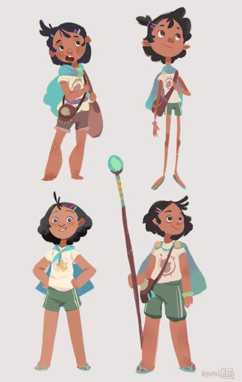 "Game Character Design Website : Amihan ""ami character exploration portfolio"