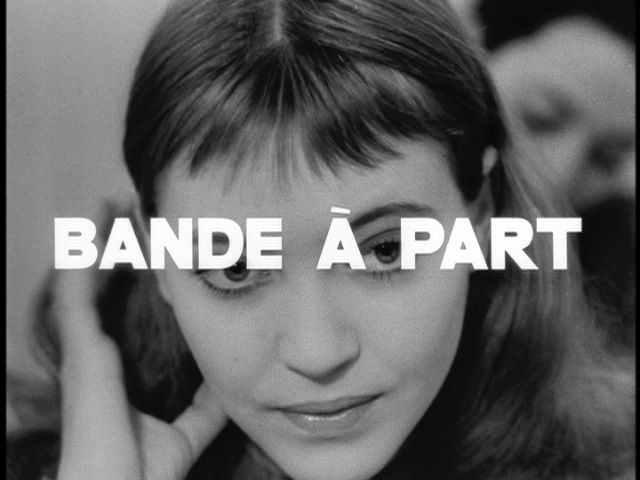 """BANDE À PART: Bande à part, French film directed by Jean-Luc Godard; released in August 1964; key title in French New Wave; titled Band of Outsiders in English-speaking world; stars Anna Karina, Sami Frey and Claude Brasseur.  ALSO, A Band Apart, American film production company founded in 1993 by director Quentin Tarantino and producer Lawrence Bender; although it closed in 2006, """"A Band Apart"""" was listed as studio for Tarantino's 2009 film Inglourious Basterds"""