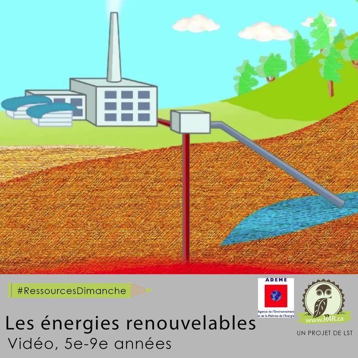 Cette semaine, pour #RessourcesDimanche de #R4R.ca, «Les énergies renouvelables.» Ce film d'animation explique le concept d'énergie renouvelable ainsi que chaque source d'énergie naturelle que nous retrouvons sur notre planète.