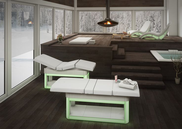 Elysium - treatments and massage comfortable bed with chromotherapy system