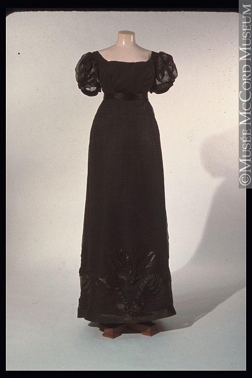 Evening dress ca. 1820-1825: Evening Dresses, Vintage Fashion, Mourning Dresses, Regency Era, Dresses 1820 1825, 18201825, Mccord Museums, 1800 S, Vintage Clothing
