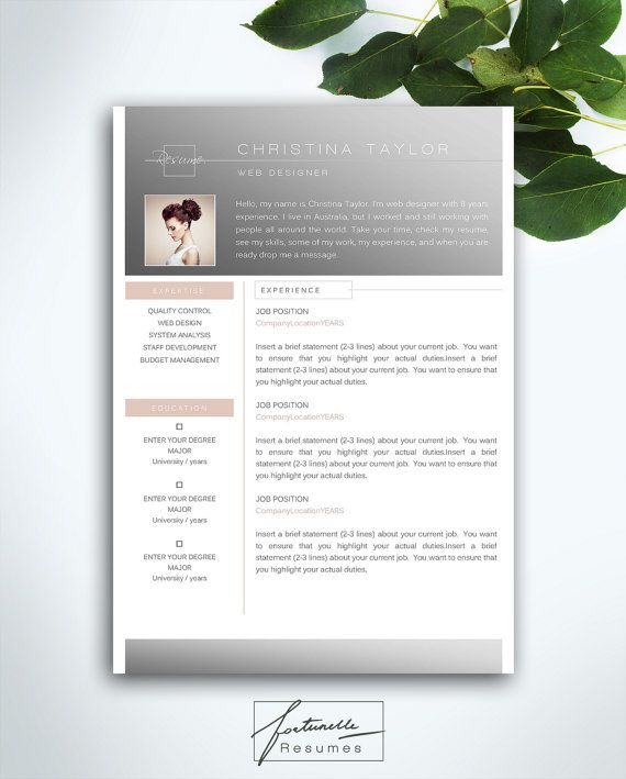 20 best CV images on Pinterest | Cover letters, Resume templates and ...