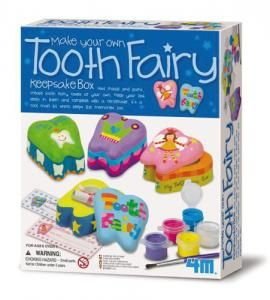 Just mould and paint to create tooth fairy cases of your own. Keep your lost tooth in them - complete with a certificate. It's a cool craft kit which keeps the memories too.