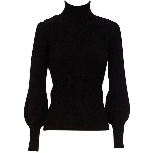 Karen Millen Karen Millen Epaulette roll neck (£60) ❤ liked on Polyvore featuring tops, sweaters, shirts, knitwear, sale, stretch shirt, roll neck sweater, stretch wool sweater, shirt top and military wool sweater