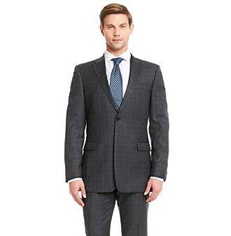 Tommy Hilfiger Men's Big & Tall Plaid Suit Separates Jacket