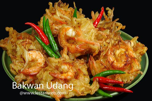 Nama umumnya BAKWAN UDANG , tetapi gorengan ini menyandang berbagai identitas sesuai sebutan di daerah masing-masing,  bahkan ada namanya yang lucu ;-) :Bala Bala Udang (Jabar), Heci atau Badak (Semarang) , Piya-Piya atau Pia-Pia (Ponorogo), Weci ( Malang), Hongkong ( Bondowoso, Banyuwangi, Jember), Seci (Situbondo),  Kandoang atau Bikandoang (Sulawesi),  Lumpiang (Bali) dan masih banyak lagi ;-).