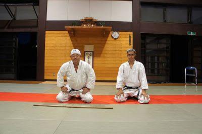 Aikido  Mendoza Iwama : Hitohira Saito sensei y Stefano Di Carlo (5ºDan)