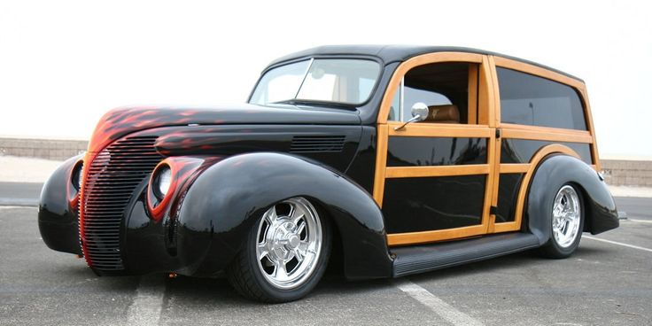 1939 Ford Standard Phantom Woodie Custom....for my birthday? make it pink, and my sexy drivers name will be Mick