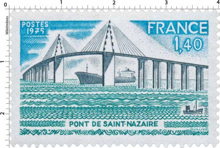 Timbre : 1975 PONT DE SAINT-NAZAIRE   WikiTimbres