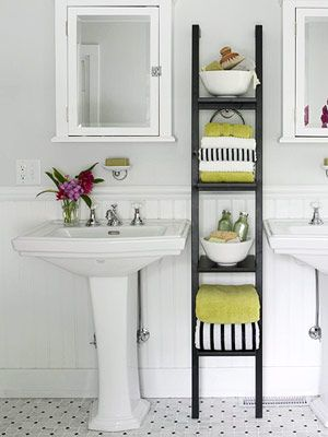 For our master bath towel storage?