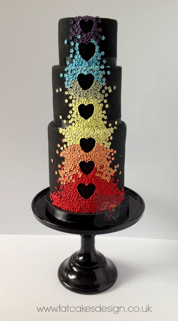 Best 25 Rainbow heart wedding cakes ideas on Pinterest