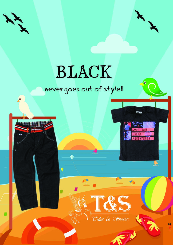 Try black #clothings for your #kids.. its a color which never goes out of style... #Shop on >>> http://talesandstories.com/