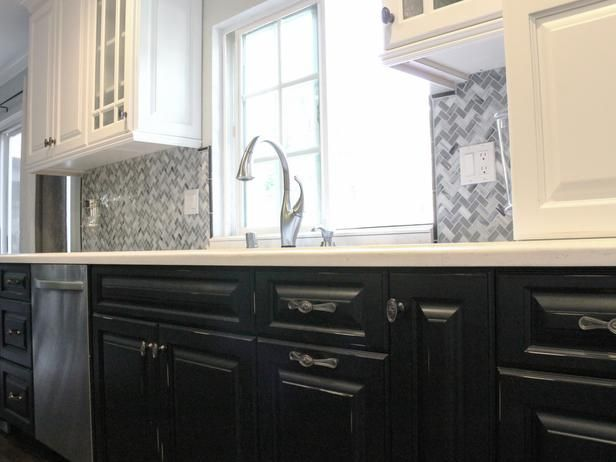 LOVE this idea, especially for little fingers that leave their marks everywhere!  Traditional Kitchens from Principle Design and Construction on HGTV