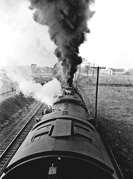 Baltimore & Ohio 2-8-8-4, near Painesville, Ohio, 1955 by Photographer Jim Shaughnessy