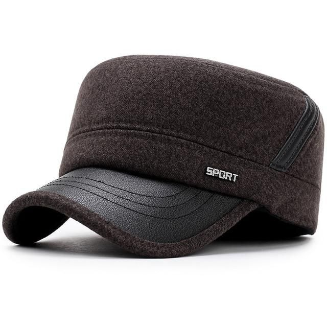 6d7aae86a4497 New Winter Hats for Men Military Cap with Ear Flaps Army Sailor Hat Z-5900