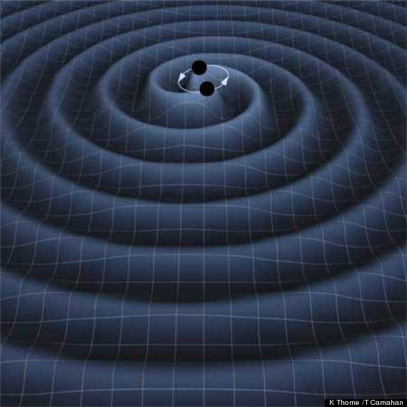 When two extremely dense objects, such as neutron stars (stars so dense the protons and electrons in their atoms collapse to form neutrons) or black holes, orbit each other in binary pairs, their interactions should create ripples in the fabric of space-time called gravitational waves.