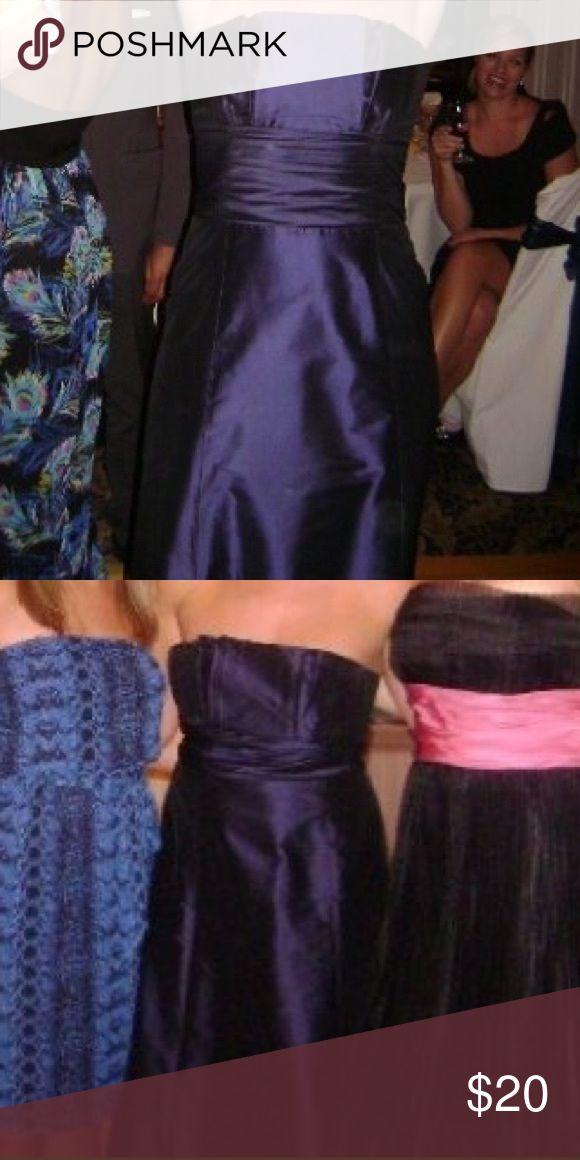 Coren Moore Navy Blue Gown Coren Moore navy blue long bridesmaid dress.  Worn once in a wedding party.  Never altered. coren moore Dresses Wedding