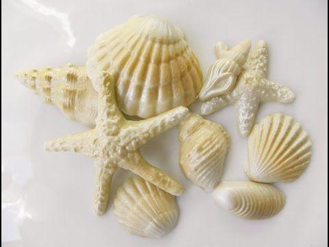 Tutorial conchiglie in pasta di zucchero, shells fondant tutorial - YouTube