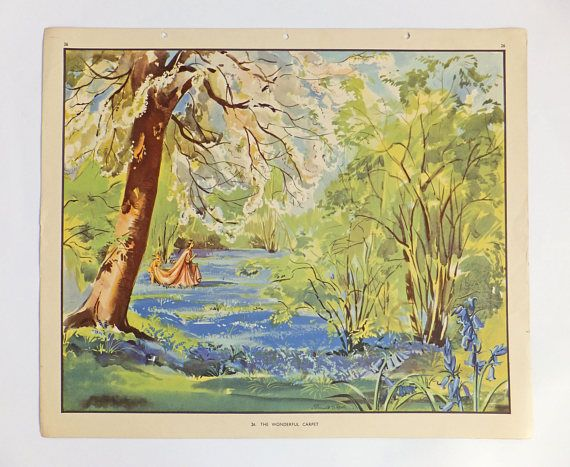 Bluebell Picture Old School Poster Classroom poster Dorm
