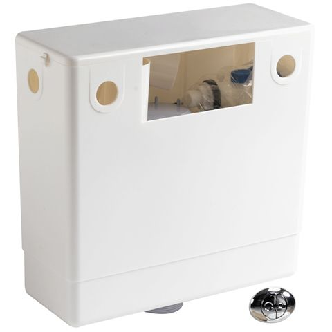 pneumatic concealed cistern complete with dual flush air button Pura HIDECIST