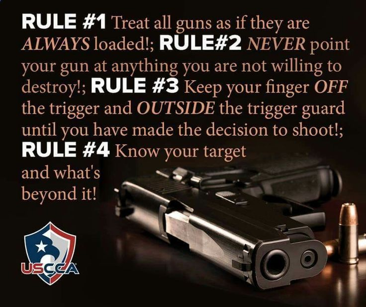 The 4 Rules of gun handling. Never stray from them.