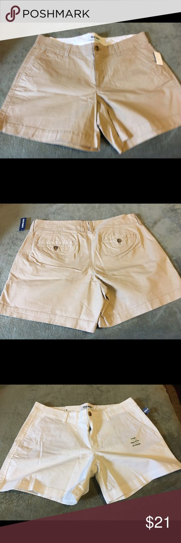 Old Navy Shorts bundle(2). New with partial tags. White and Khaki shorts bundle. Size 10. Old Navy. New with partial tag. Never worn. Old Navy Shorts Bermudas