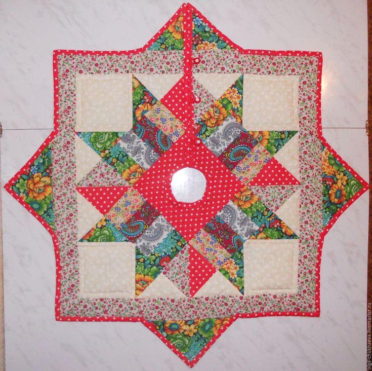 """Купить Юбка для елки """"Рождество"""" - комбинированный, юбка для елки, коврик на крестовину елки, лоскутное, пэчворк"""