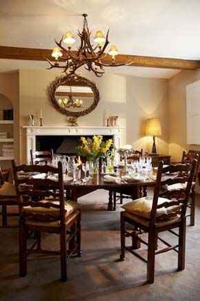 Antler And Pheasant Themed Dining Room Georgian Farmhouse Designed By Latham Interiors