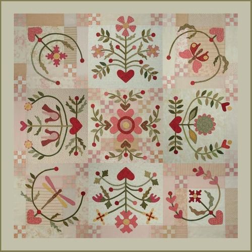 Joy of Life Quilt...block by block  I would love to make this someday!  rosaliequinlandesigns.typepad.com