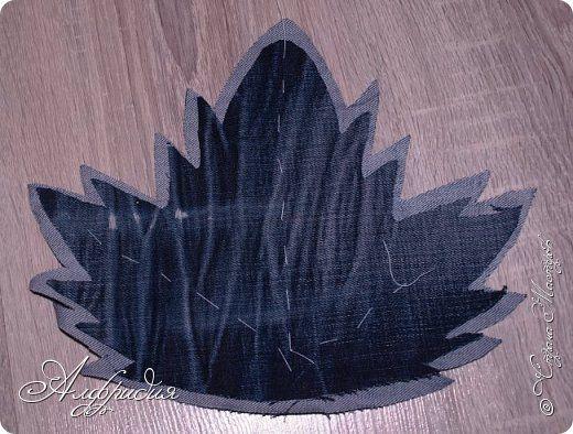 Декор предметов Мастер-класс Поделка изделие Аппликация Шитьё Джинсовые лоскутки мини-МК Нитки Ткань фото 8