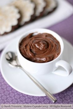Super quick and easy chocolate quark mousse - no eggs and much lower fat than traditional mousse.