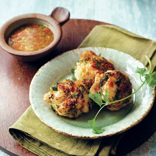 Thai Fishcakes with Nahm Jim Dipping Sauce | sheerluxe.com