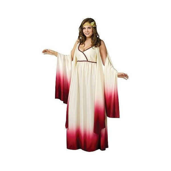 Women's Goddess Of Love Costume ($43) ❤ liked on Polyvore featuring costumes, halloween, plus size, greek costumes, adult transformer costume, adult costume, womens halloween costumes and adult women costumes