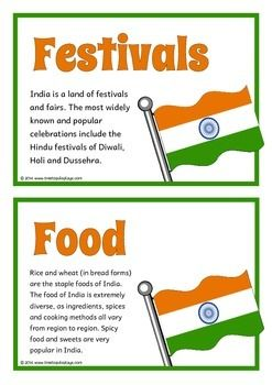 A set of 18 printable fact cards that give key, fun and interesting facts about India. Each fact card has a key word heading, making this set an excellent topic-based word wall/ word bank as well! Visit our TpT store for more information and for other classroom display resources by clicking on the provided links.