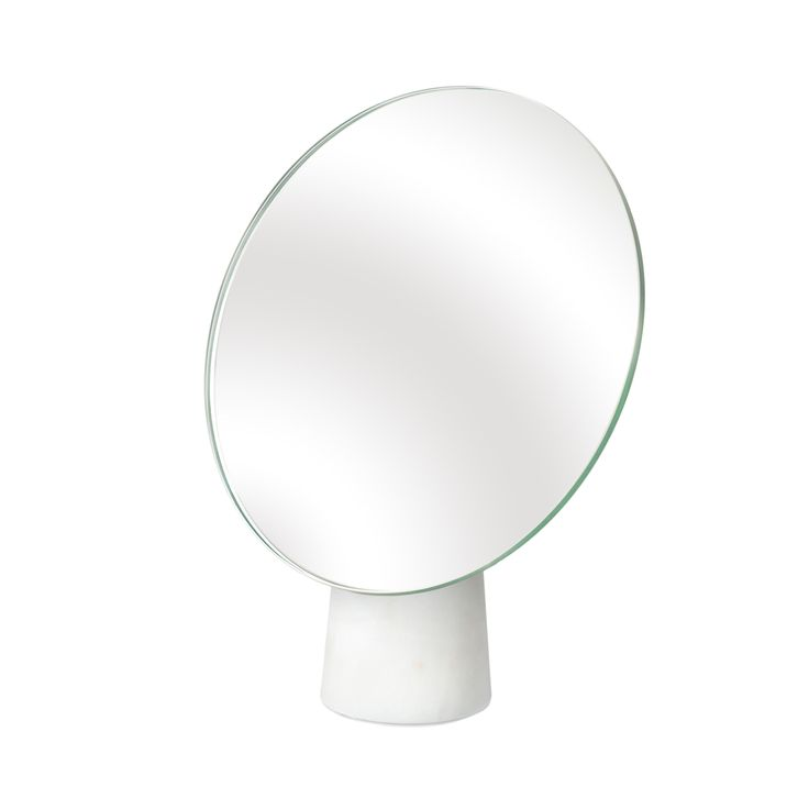 Small Round Marble Stand Mirror at Oliver Bonas £50.