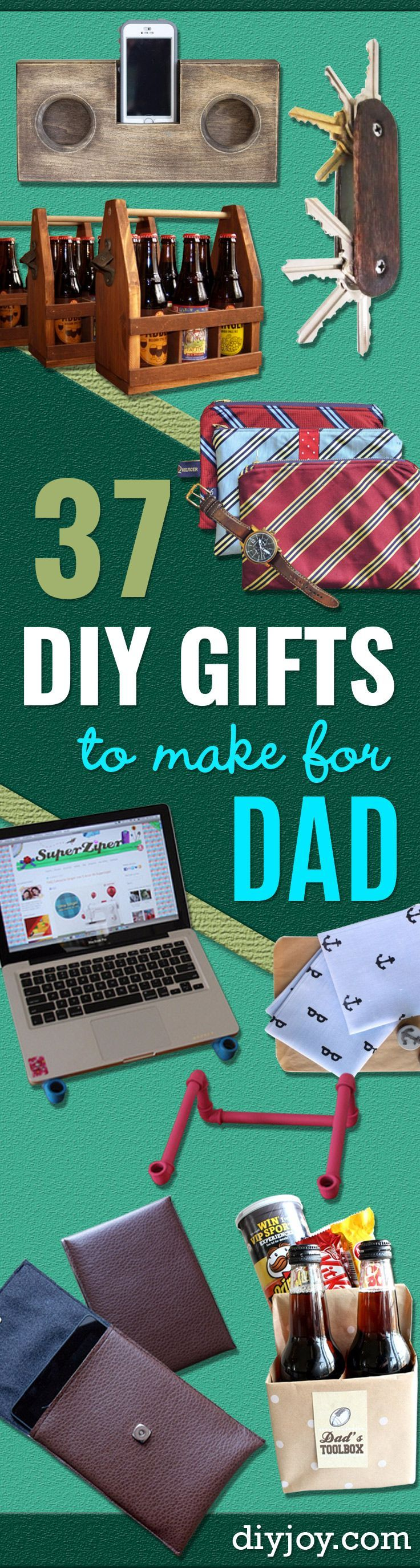 DIY Gifts for Dad - Best Craft Projects and Gift Ideas You Can Make for Your Father - Last Minute Presents for Birthday and Christmas - Creative Photo Projects, Gift Card Holders, Gift Baskets and Thoughtful Things to Give Fathers and Dads http://diyjoy.com/diy-gifts-for-dad