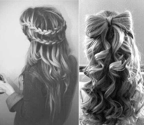 You gotta have long thick hair for these two styles.