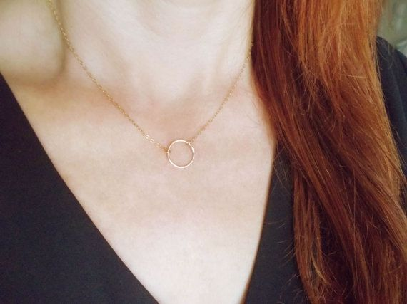 Hey, I found this really awesome Etsy listing at https://www.etsy.com/listing/206520329/dainty-gold-necklace-circle-necklace