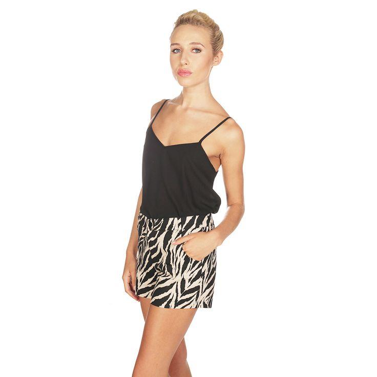 Lavish Alice Nude and Black Zebra Shorts £38