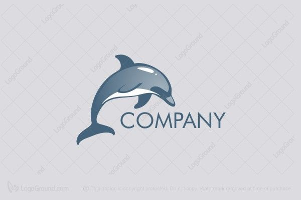 Logo for sale: Jumping Dolphin Logo