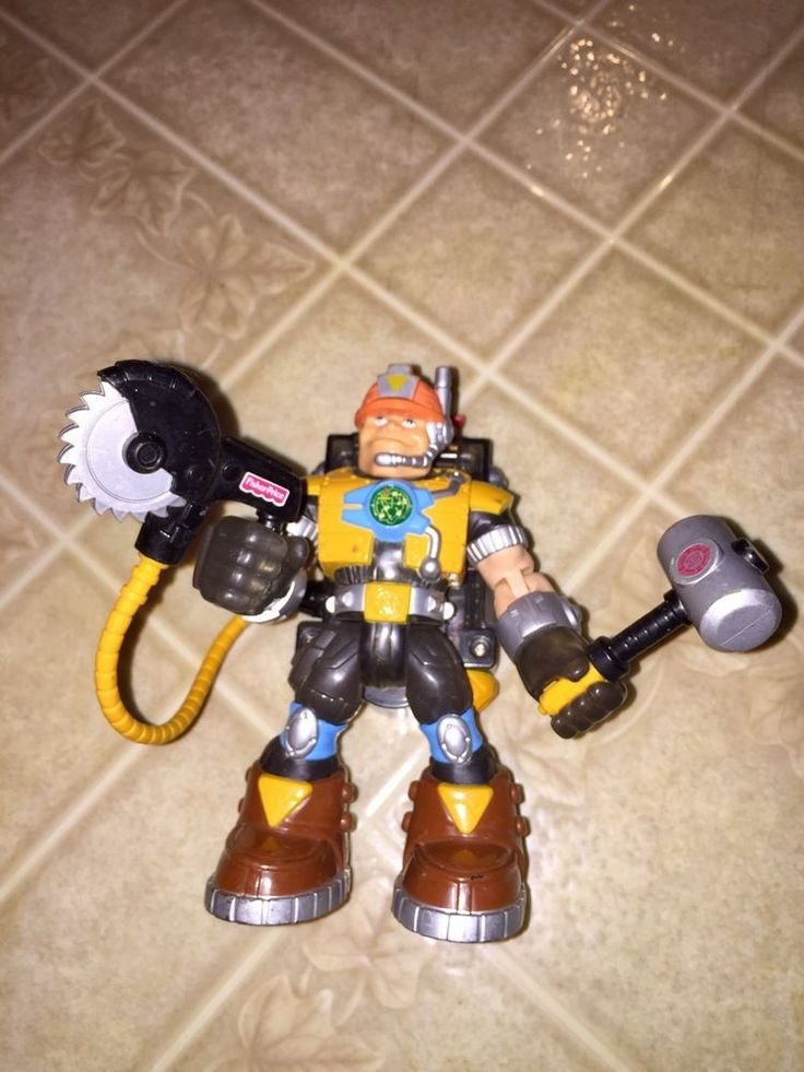 Fisher Price Rescue Heroes Video Mission Jack Hammer Action Figure #FisherPrice