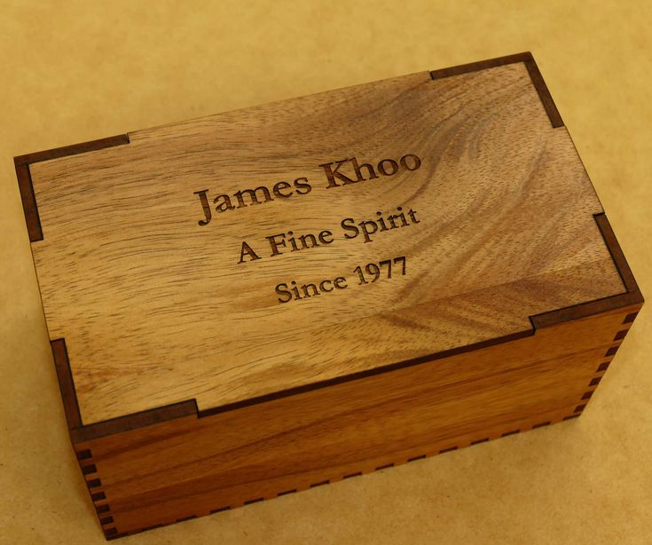 Whisky box pair custom engraved in wooden presentation box. Choose wood and details you wish engraved