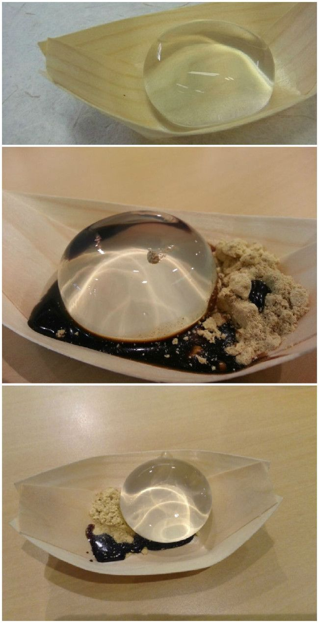 'Mizu Shingen Mochi' is a breed of Japanese rice cake that's bound to get people scratching their heads and wondering what the hell they ordered. Though it might look like a water droplet served fancy, it's actually a cake that uses water harnessed from the Japanese Alps