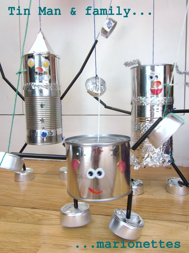 63 best images about robot crafts for kids on pinterest for Tin cans for crafts