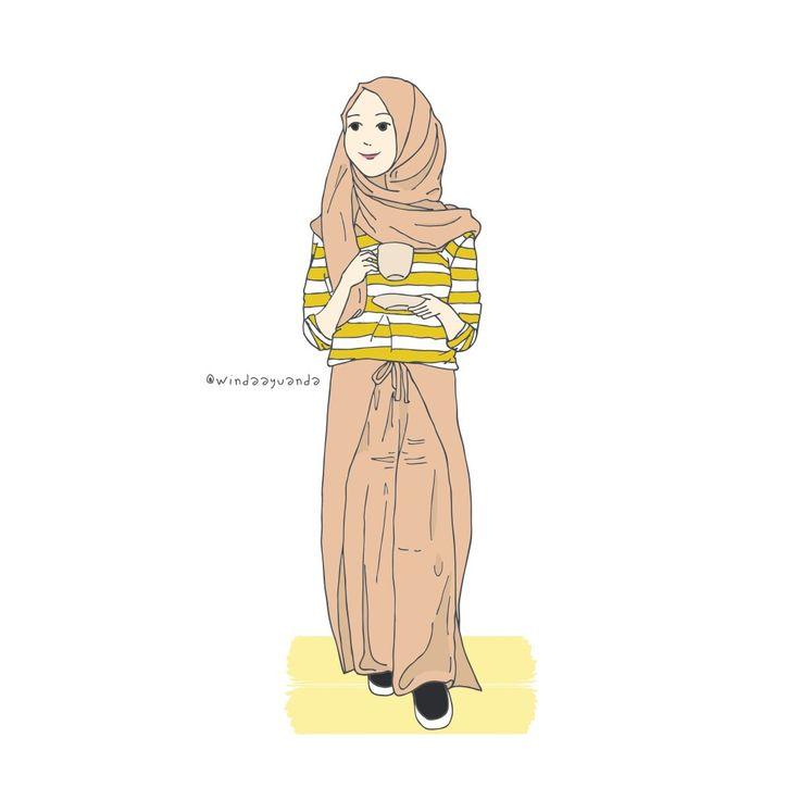 @windaayuanda @by_wnd illustration - islam - muslim - muslimah - kartun - hadith - sunnah - muslim fashion - urban outfit - fashion - be kind - kindness - quote - creative - doodle - drawing - hijab - art - design - cartoon - scetch - artwork