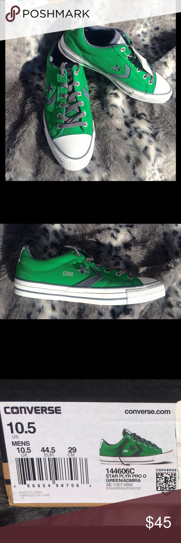 HTF/NWT Converse Star Player Pro Men's 10.5 Nice! Brand new Converse Star Player Pro in green with gray accents. Think holiday gifting for a fraction of retail! Includes box with no top. Converse Shoes Sneakers