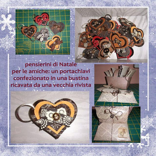 La Ricicleria di Chi: Regalini di Natale hand-made: un portachiavi in pelle!