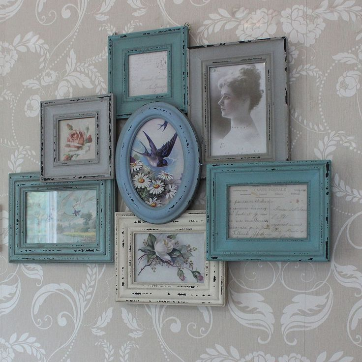 £33.95 Duck Egg Multi Aperture Photograph Frame