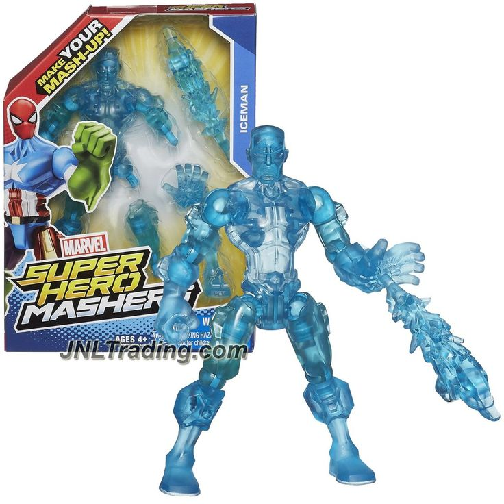 Hasbro Year 2014 Marvel Super Hero Mashers Series 6 Inch Tall Action Figure - ICEMAN with Detachable Hands and Legs Plus Ice Blast