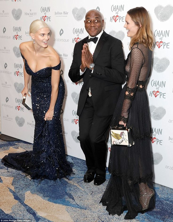 Terrific trio: Ashley and Charlotte were joined on the red carpet by Ainsley Harriott who ...
